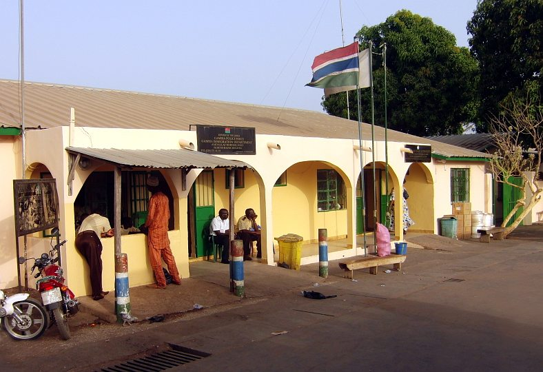 Grenzstation Gambia